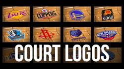 <b>NBA</b> Court Logos